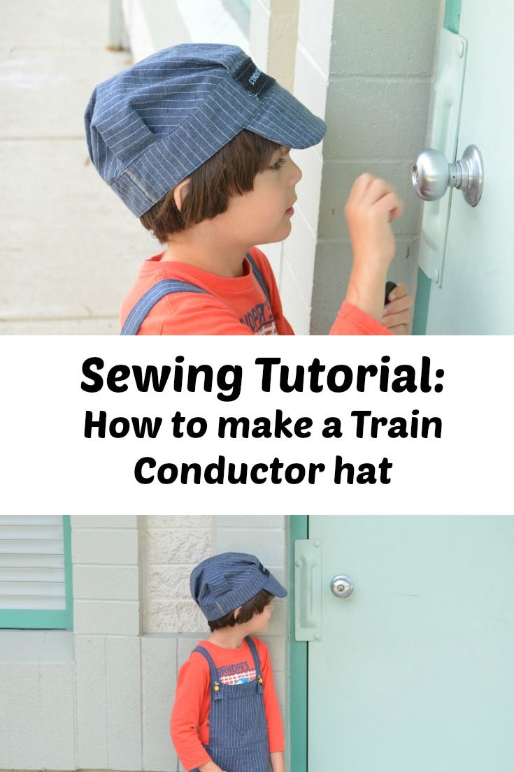 Train conductor hat tutorial - On the Cutting Floor: Printable pdf ...