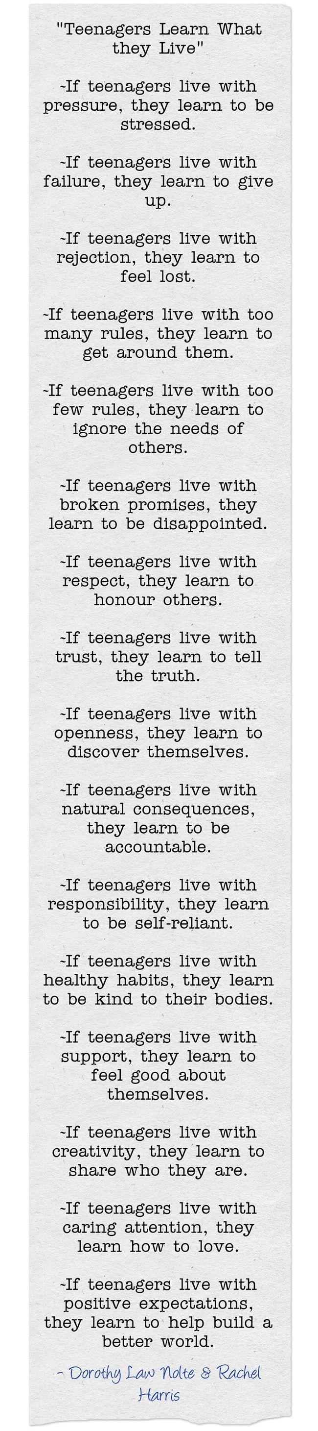 Teen advice poem
