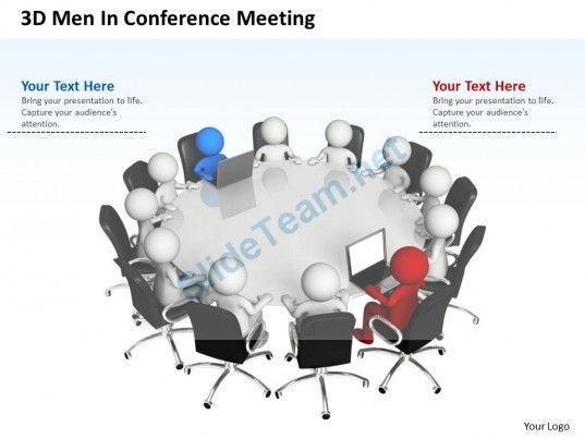 3D Men in Conference Meeting Business Team Ppt Graphics Icons - 3d powerpoint template