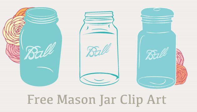Free Mason Jar Clip Art Printables Fonts Amp Such