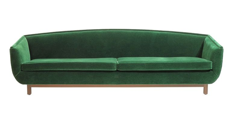 green couch by peter sandback from dennis miller associates