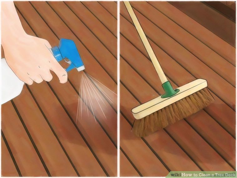 Clean A Trex Deck Deck Cleaning Deck Steps Deck Maintenance