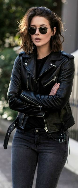top 2 rocker outfitsin rocker girl style  edgy leather