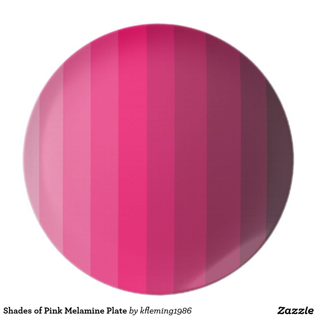 Shades of Pink Melamine Plate