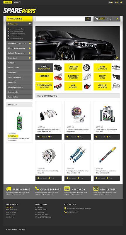 car parts store prestashop theme ecommerce template. Black Bedroom Furniture Sets. Home Design Ideas