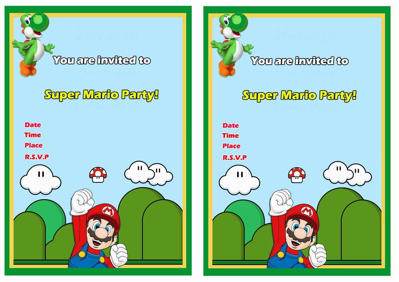 Super Mario FREE Printable Birthday Invitations Click ...