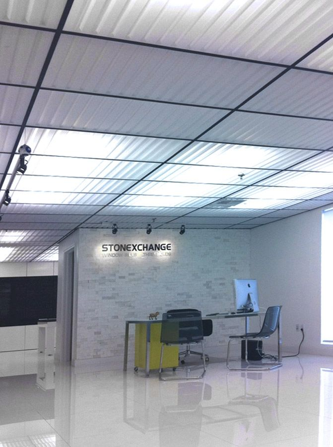 southland ceiling panels in translucent