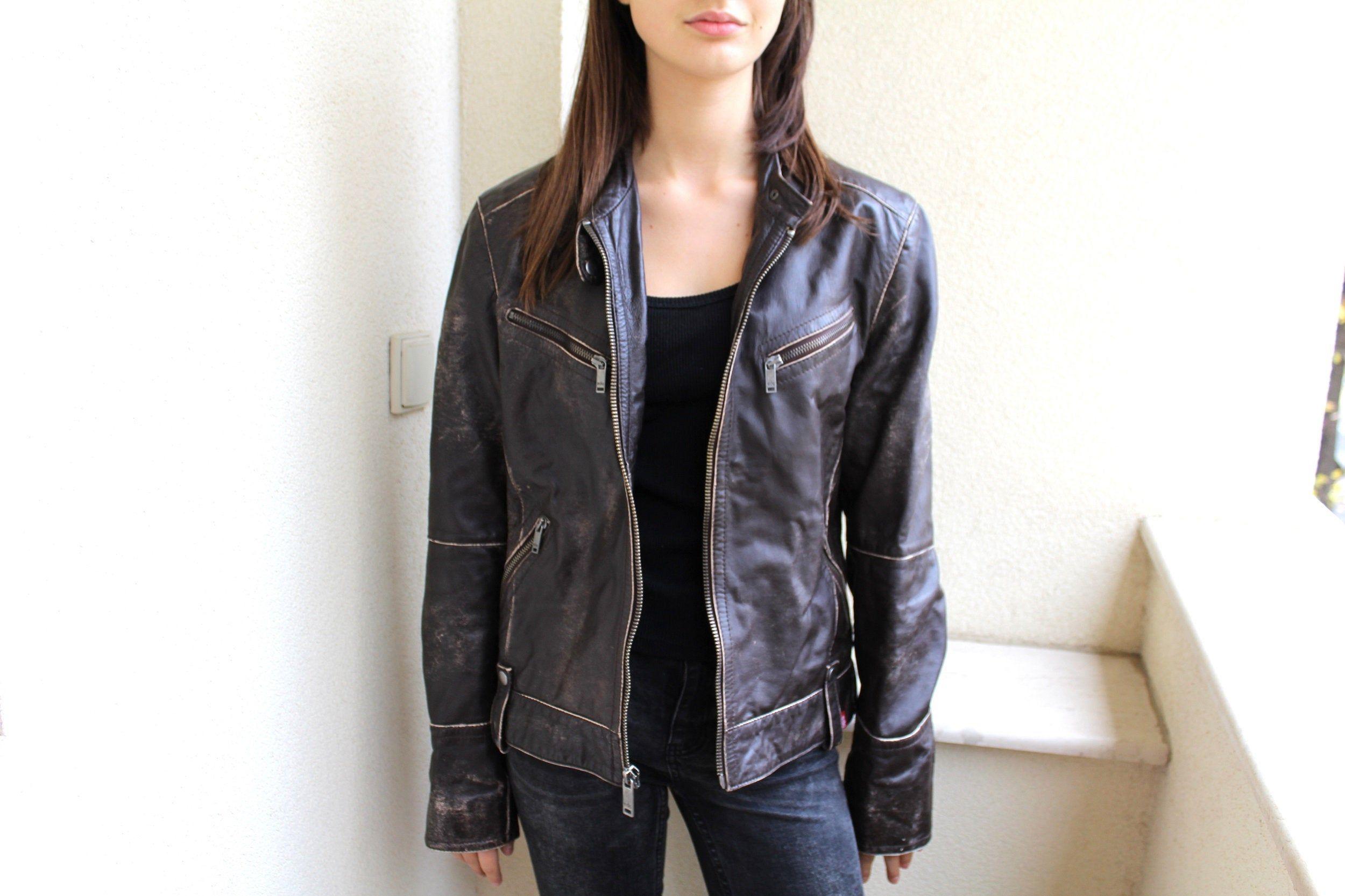 Vintage Leather Jacket Brown Leather Jacket Distressed Etsy Distressed Leather Jacket Vintage Leather Jacket Leather Blazer Women [ 1666 x 2500 Pixel ]
