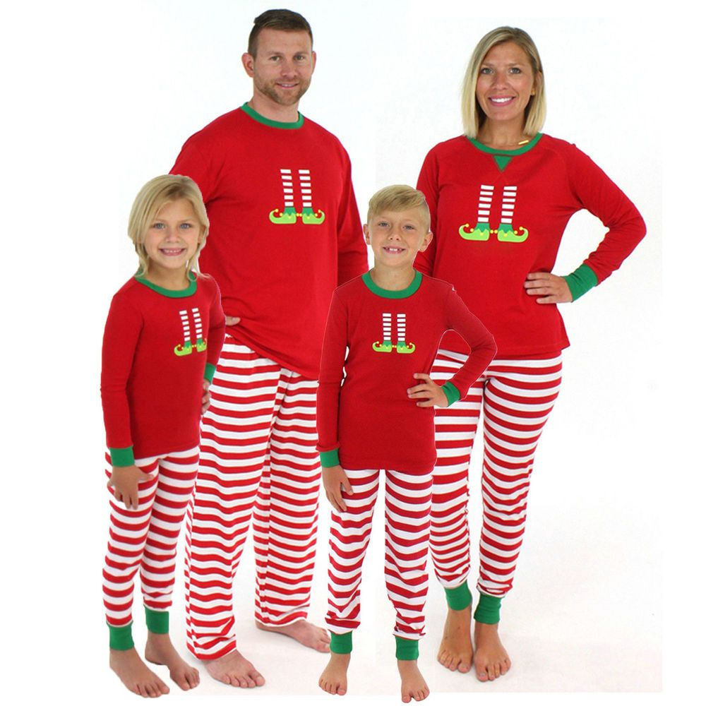 Xmas Christmas Family Pajamas Set Xmas Adult Women Kids Sleepwear Nightwear Red Fashion Clothing Shoes Accessories Womensclothing Intimatessleep Ebay