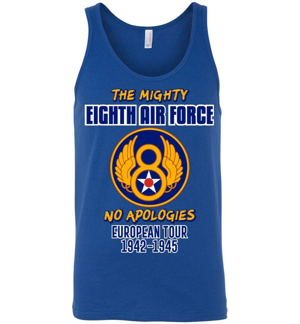 The Mighty Eighth Air Force Canvas Unisex Tank