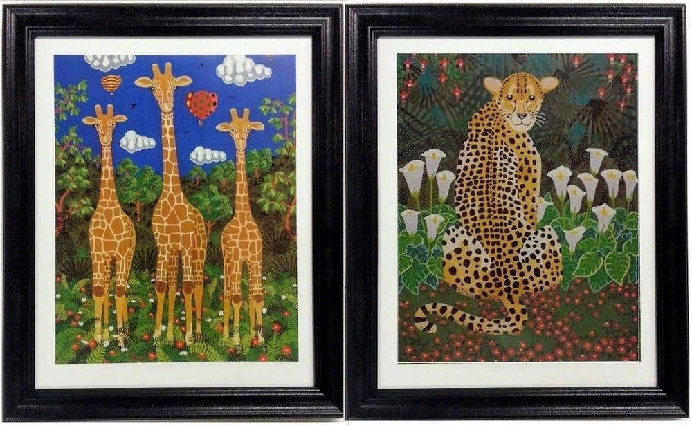 Queen of Clubs matted print 16 x 20 Cheetah