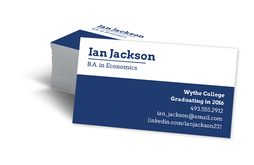 Student business cards can i take your business cards for Business cards for graduate students