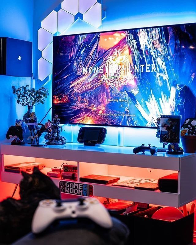 25 Epic Gaming Room Setups! & Tips to Improve Yours! – Tasteful Tavern #gamingrooms 25 Epic Gaming Room Setups! & Tips to Improve Yours! – Tasteful Tavern #gamingrooms