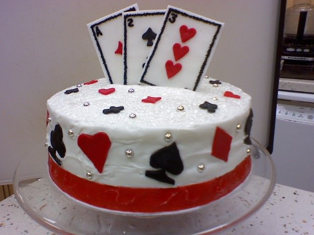 deck of cards cake My Work Pinterest Decking Cake and