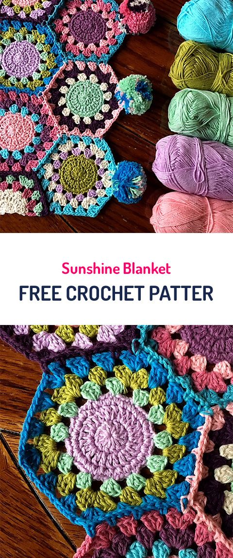 Sunshine Blanket Free Crochet Pattern #crochet #yarn #homedecor #diy ...