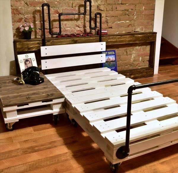 Cama + somier únicamente usando palets DecNw Pinterest Somier - camas con tarimas