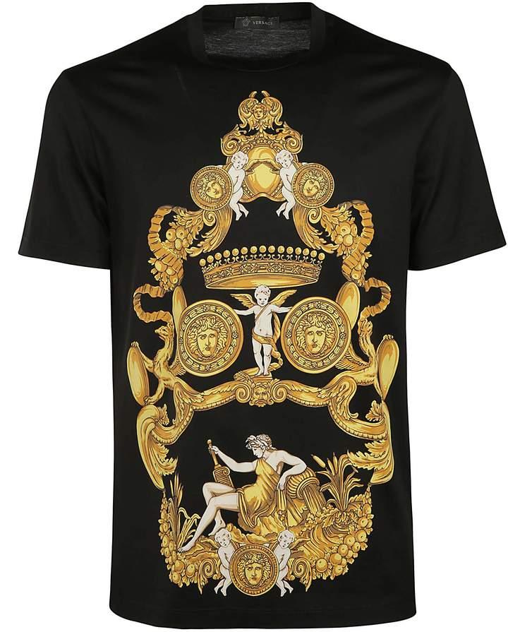 45a28619b Versace Blasone Barocco T-shirt | Products | Versace shirts, Versace ...