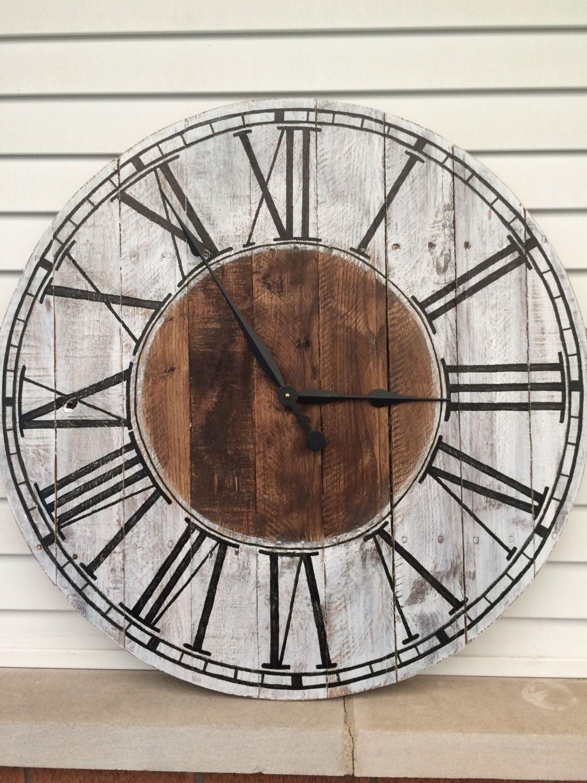 Wood Clock Rustic Farmhouse Style Wooden Pallet Quot Kat