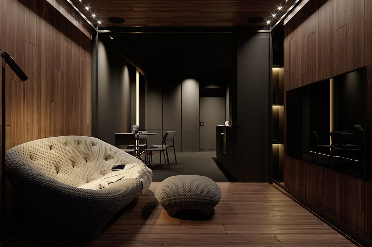 Dark Decor For A Night Owl Dark Living Rooms Colorful