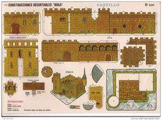 Castillo recortable para descargar 2 Maquetes de casas