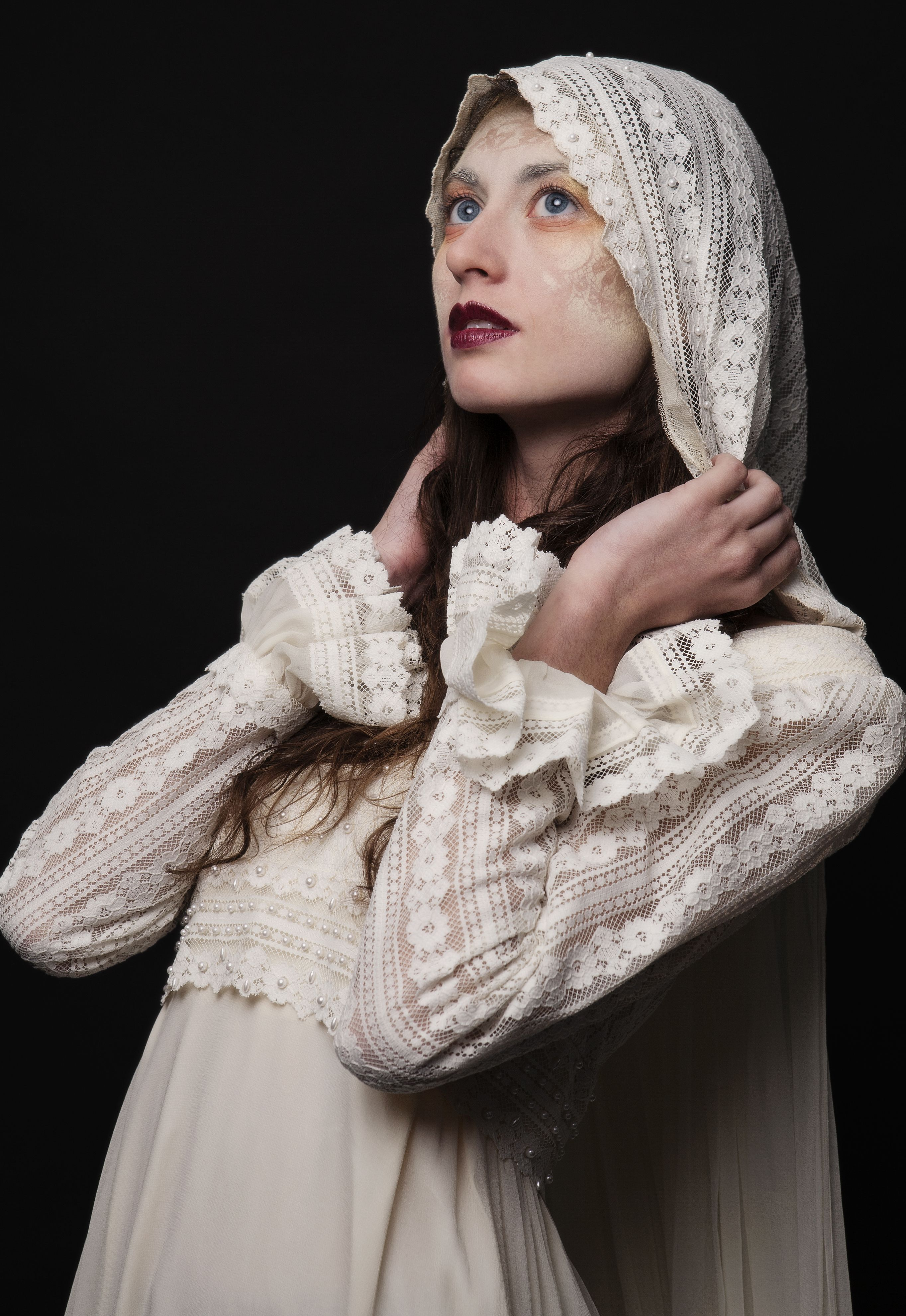 Boho bride for an elvish forest wedding vintage dress available at