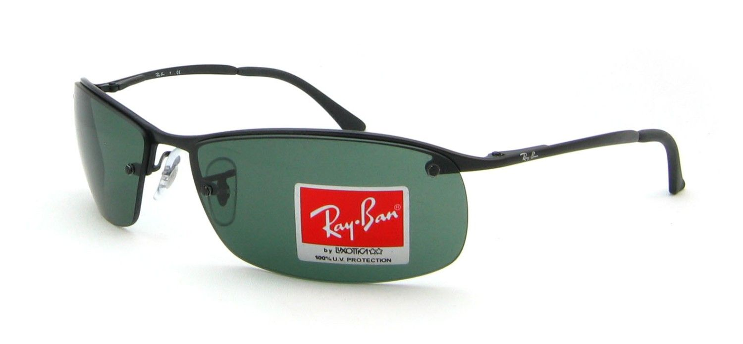 ray ban herren rb3183 top bar rechteckig sonnenbrille. Black Bedroom Furniture Sets. Home Design Ideas