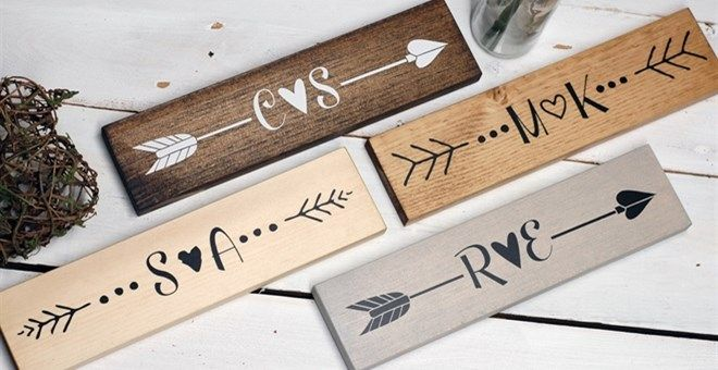Personalized Wood Arrow Sign Decor Arrow Wood Sign Personalized
