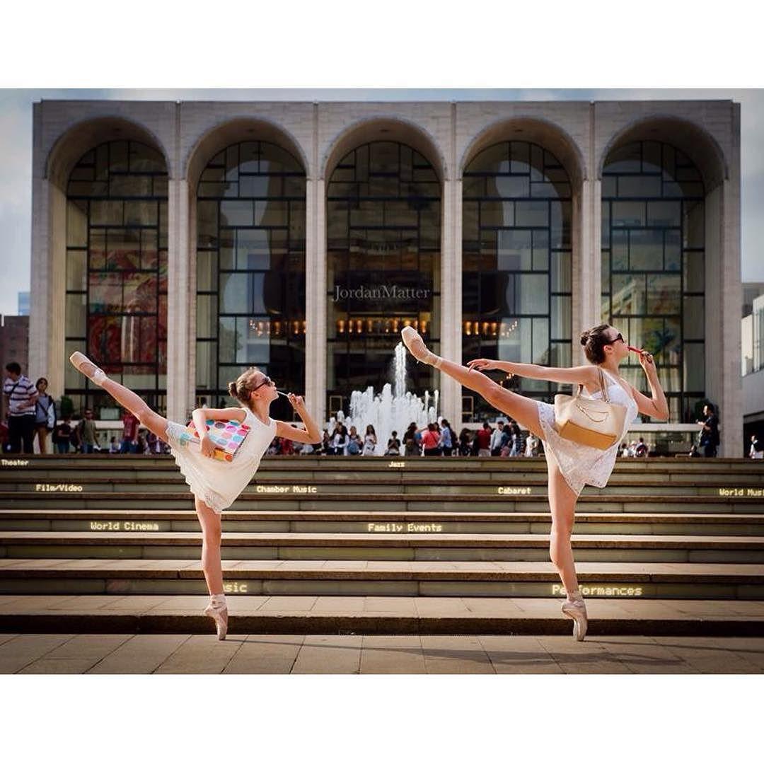 Twinsies! 10-year old @sab_nyc dancer @dakota_skye_blake applying lip gloss with @abtofficial ballerina @wheresmytutu @LincolnCenter.  #tinydancersamongus #lipgloss #lincolncenter by jordanmatter