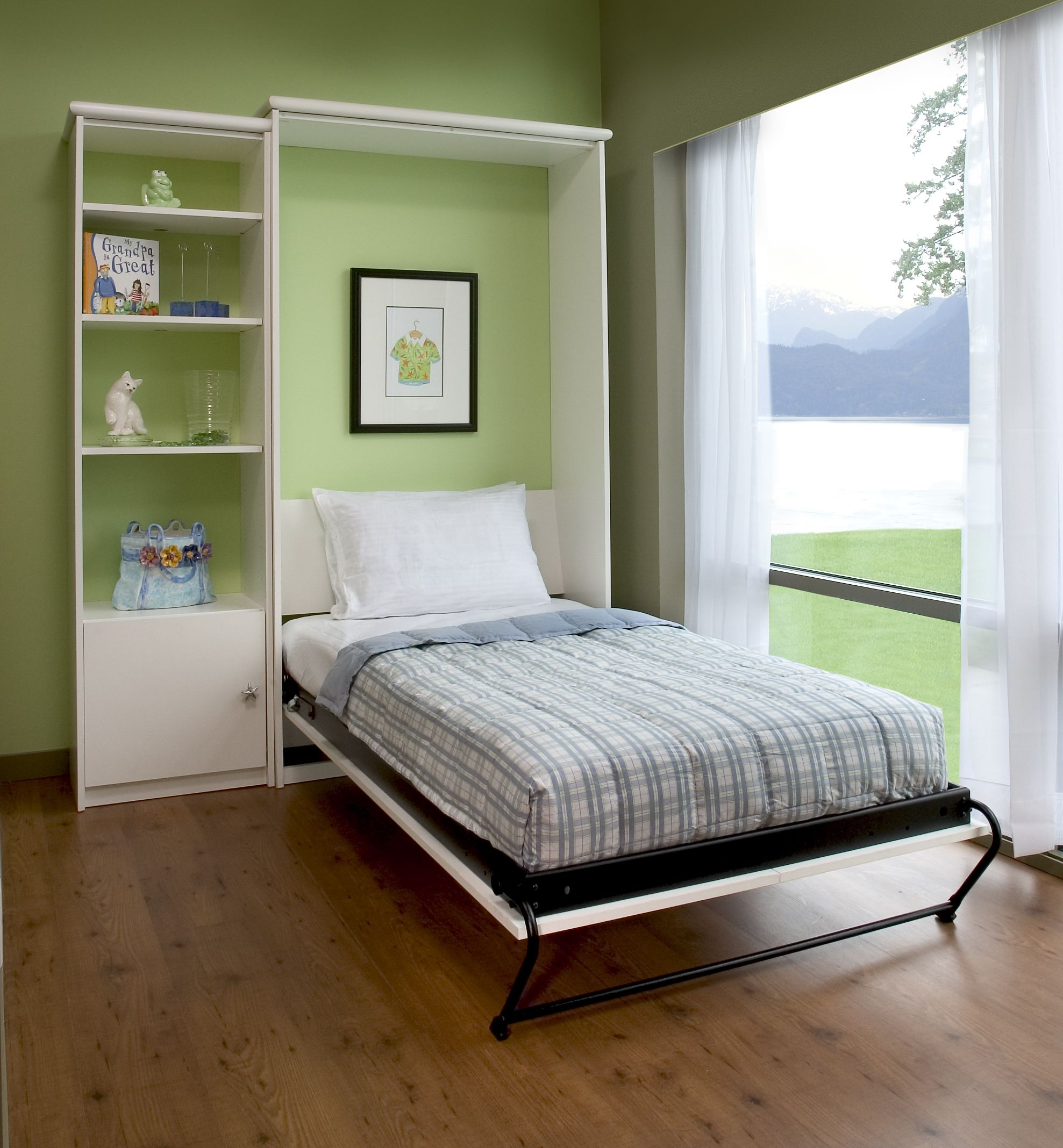 Home Offices are a great place for a murphy bed! Murphy