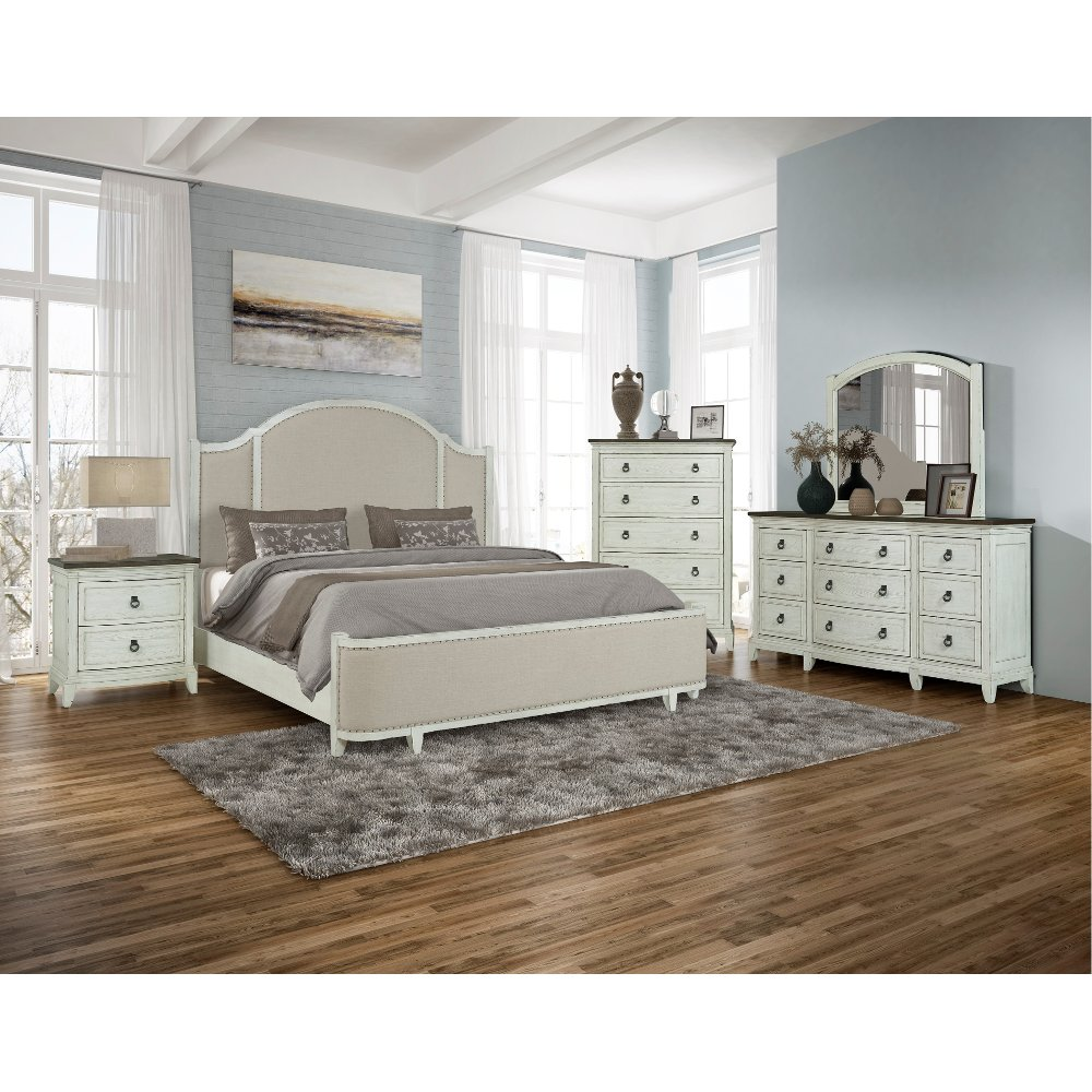Country White 4 Piece Queen Bedroom Set Chapel Hill In 2020 King Bedroom Sets Queen Bedroom King Bedroom