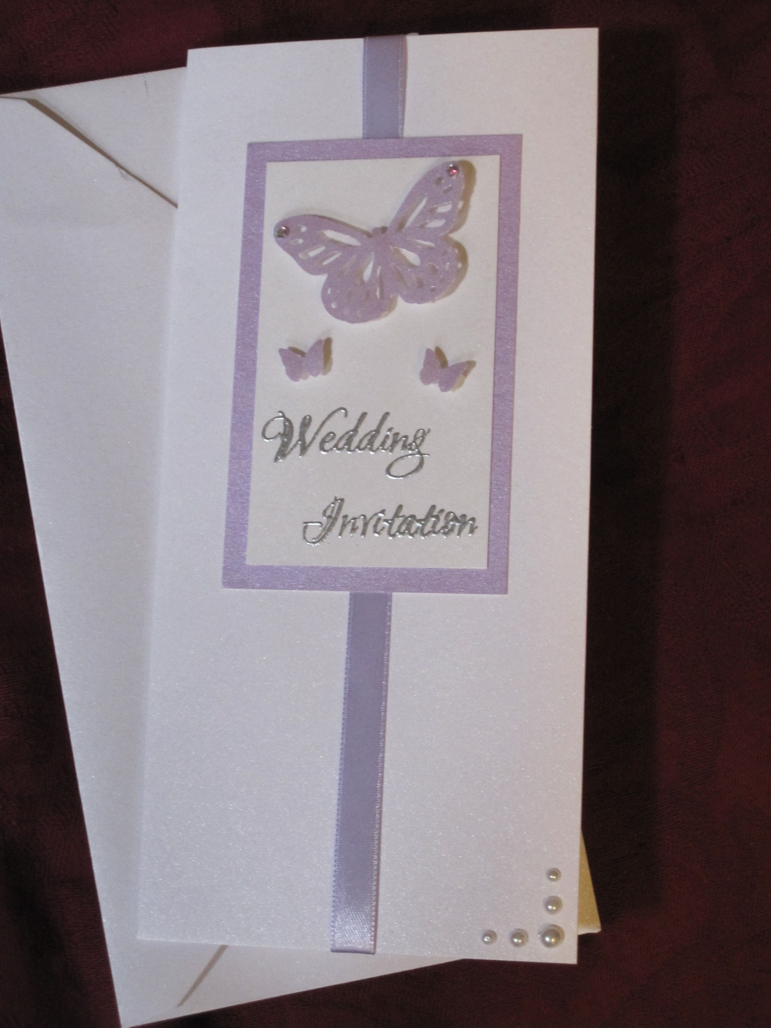 Lilac butterfly wedding invitation | Wedding invitation ideas ...