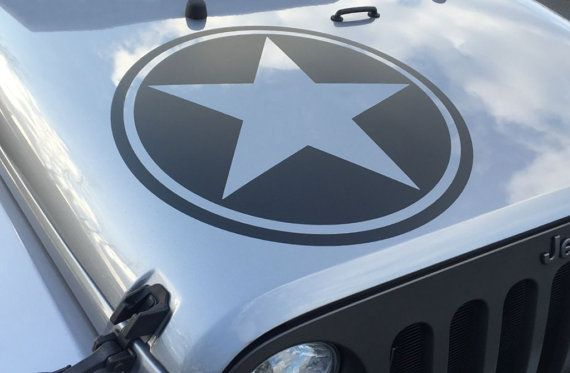 Jeep Wrangler Freedom Edition Replica Military Star Decal Decals - Custom windo decals for jeepsjeep hood decals and stickers custom and replica jeep decals now