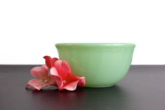 5400ccd264b Fire King Jadeite Mixing Bowl 5 Inch Swirl by OldVintageGoodies ...