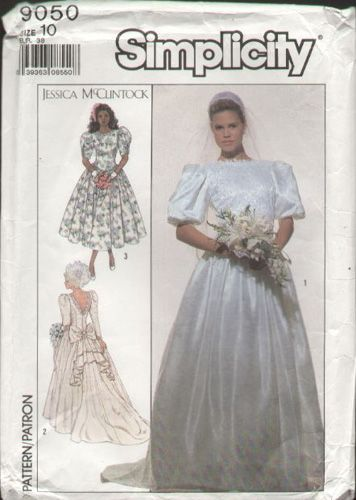 Simplicity 9050 Vtg 1980\'s Jessica McClintock Bustle Back Wedding ...