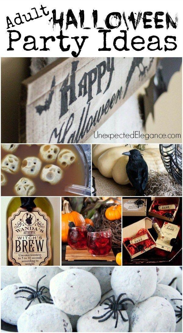 Throw a SPOOKTACULAR Adult Halloween Party Pinterest Halloween - halloween party decorations adults