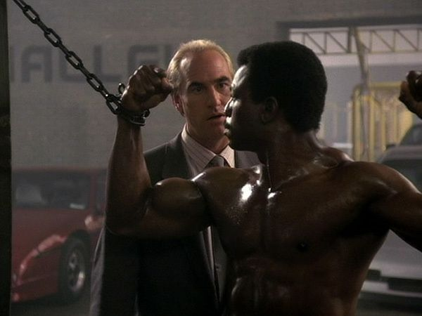 """Jericho """"Action"""" Jackson (Carl Weathers) and Peter Dellaplane (Craig T. Nelson)."""