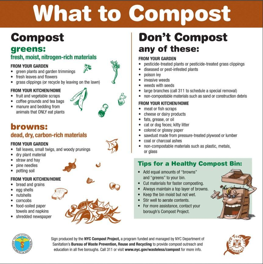pdf of sign for what to compost and the things you donu0027t compost