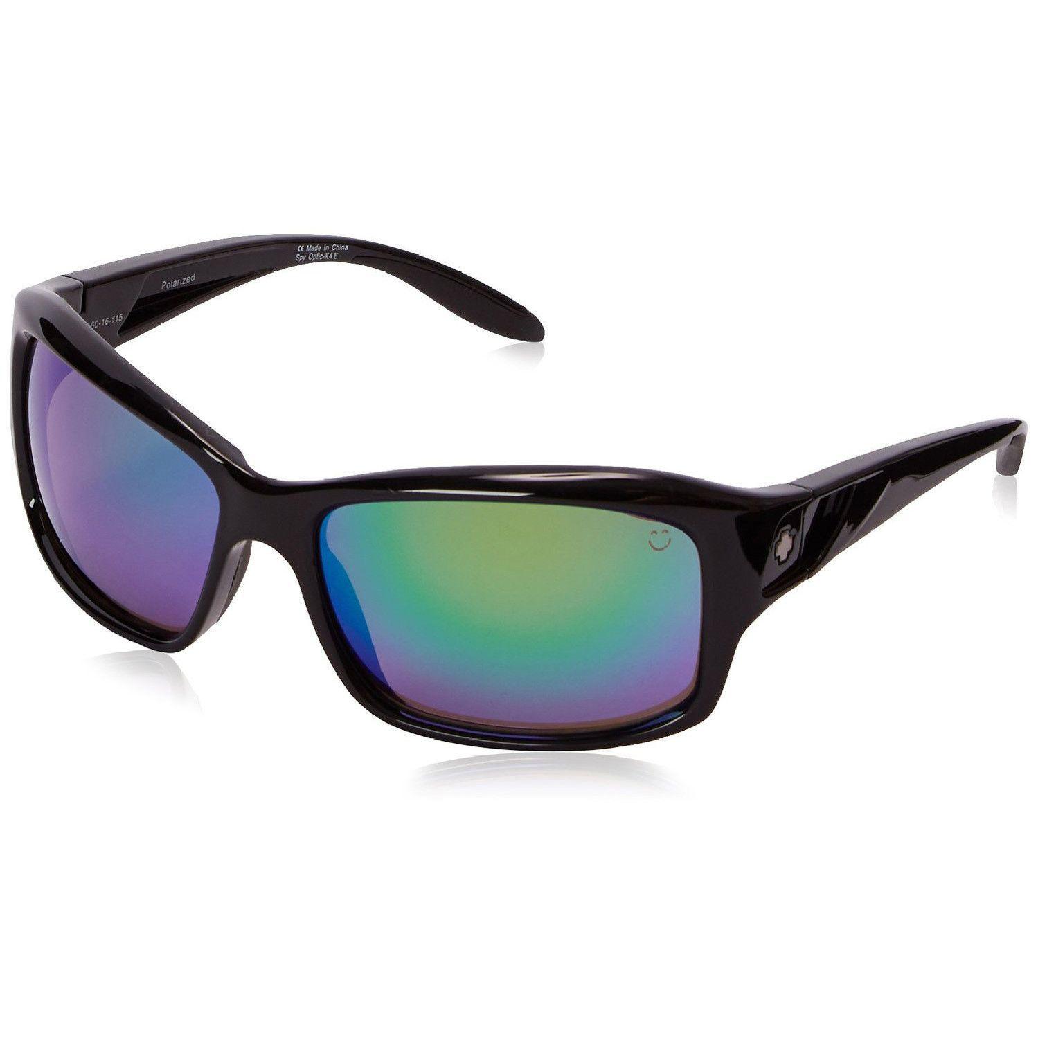e5ced90537 Spy Optic Libra Black Frame Happy Bronze Trident Polarized Green Spectra  Mirror Lens Women s Sunglasses