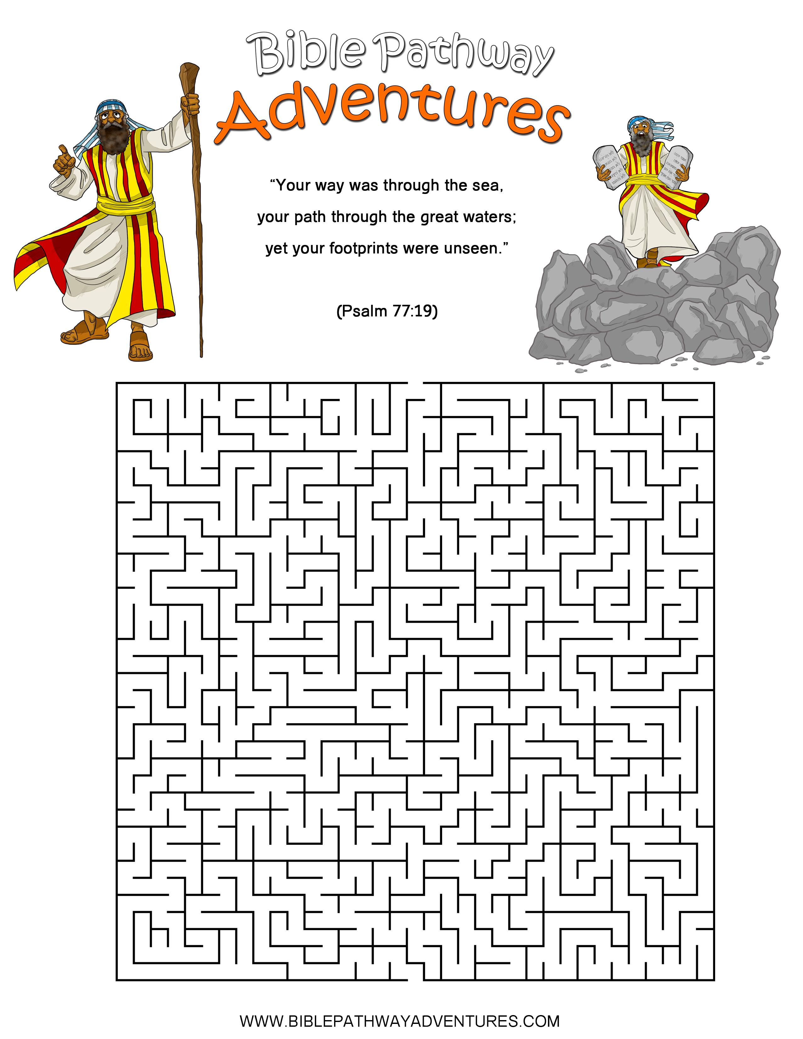Free Bible Activities For Kids
