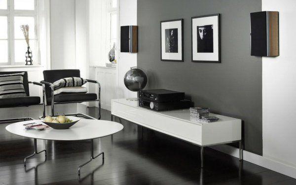 Wandfarbe Grau Ist Der Neue Trend In Der Zimmergestaltung Weisses Wohnzimmer Wohnzimmer Modern Zimmergestaltung