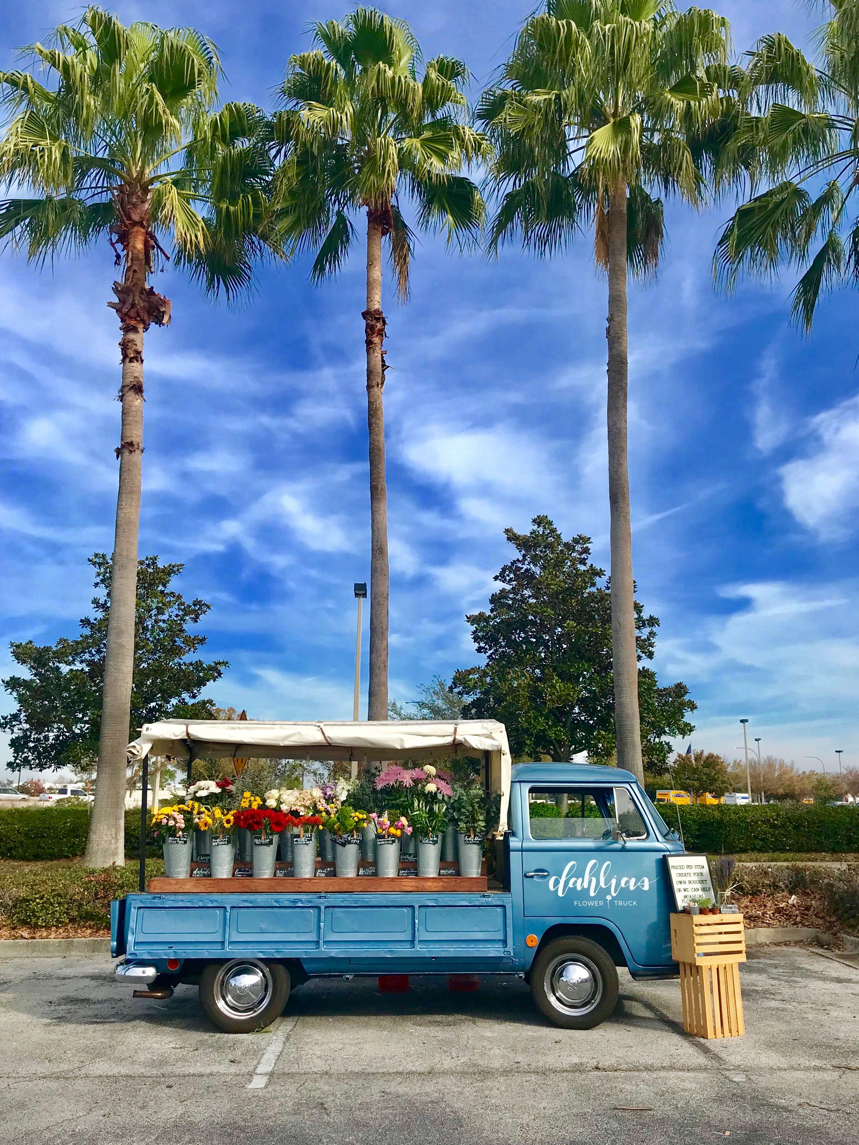 Orlando S Flower Truck Flower Truck Flower Business Dahlia Flower
