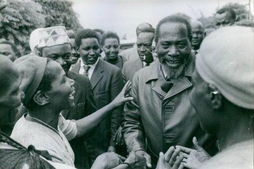 First President of Kenya Jomo Kenyatta 1961