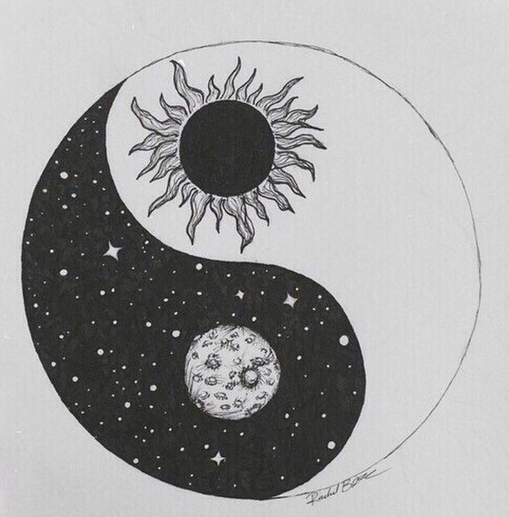 Luna. sole. yin e yang.