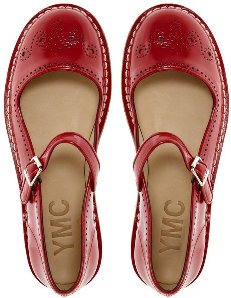 Love, love, love these Red Mary Jane Shoes