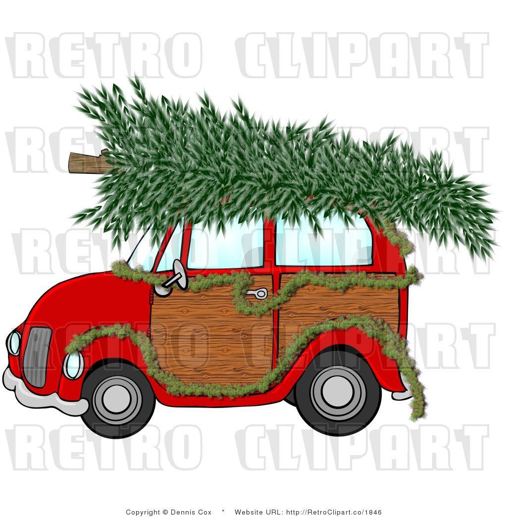 Christmas Tree Clip Art | Royalty Free Retro Christmas ...