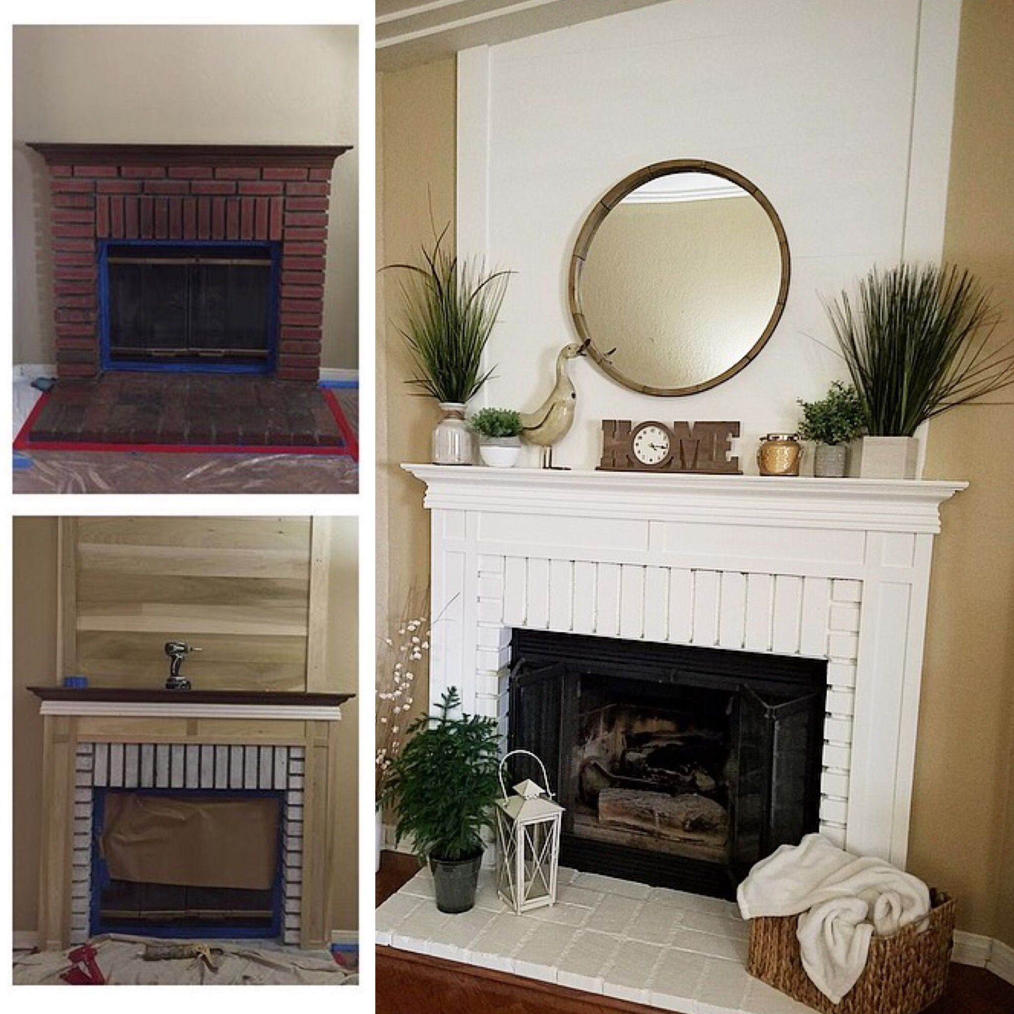 Before during and after diy fireplace this is another