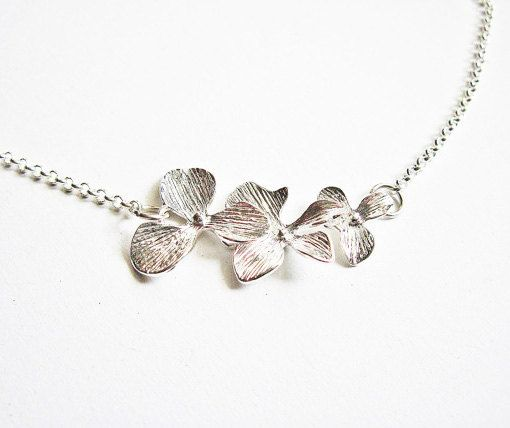 Triple Orchid Necklace by RobertaValle