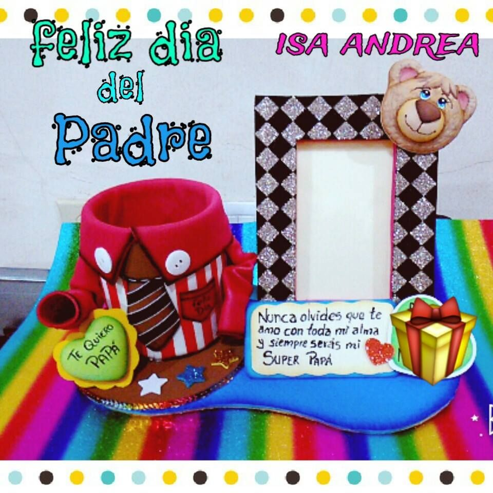 Portaretrato Para Papa Feliz Dia Del Padre Happy Fathers Day Crafts For Kids Foam Crafts