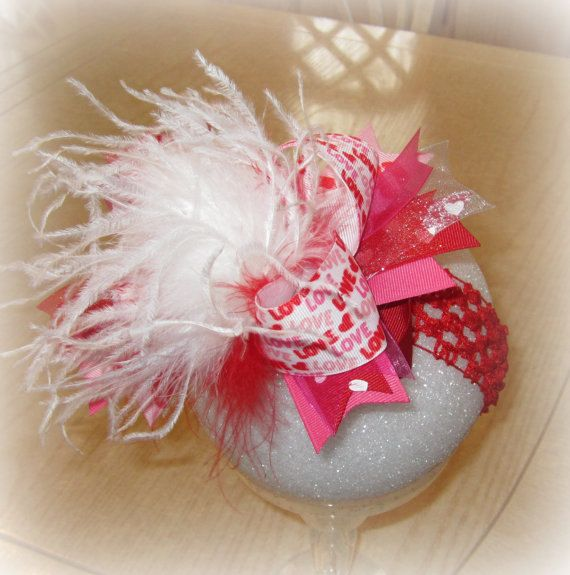 Valentines Day Over the Top Ostrich by MyBellaBellaBowtique, $15.95