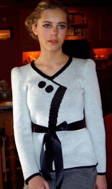 sweater greta - Trompe L'Oeil - обманки - Галерея - Knitting Forum.Ru